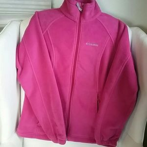 Columbia Hot Pink Fleece Jacket. S